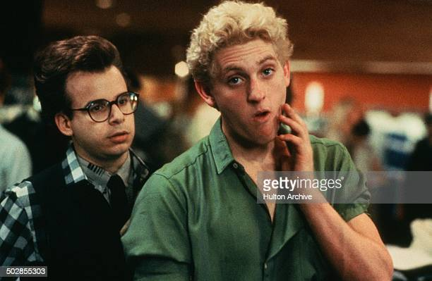 Rick Moranis and Chris Penn in a scene for the Universal Studios movie The Wild Life circa 1984
