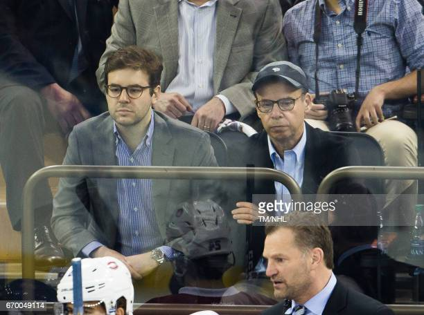 Rick Moranis is seen at Madison Square Garden on April 18 2017 in New York City