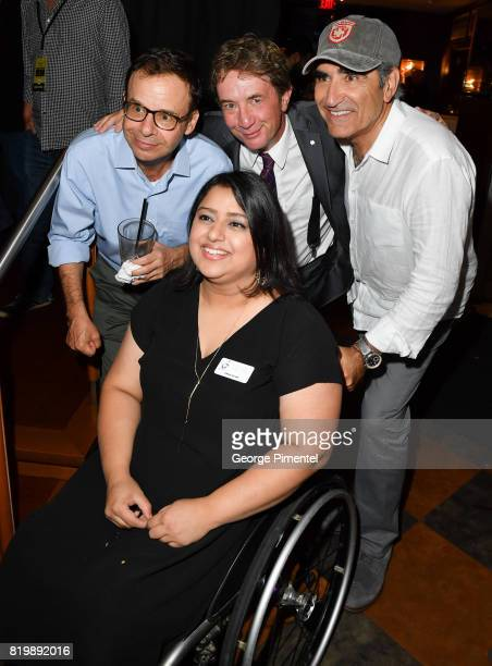 Rick Moranis Martin Short Eugene Levy and guest from Spinal Cord Injury Ontario attend the Dave Thomas And The Second City Present 'Take Off EH' An...