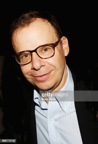 Rick Moranis poses at the opening night after party for In Of Itself at The Ace Hotel on April 12 2017 in New York City
