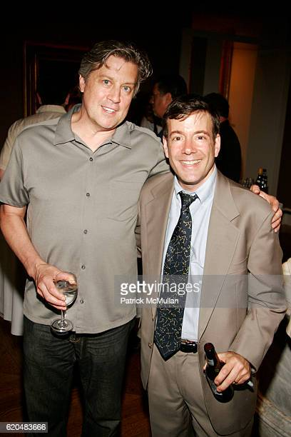 Rick Mowat and Mark Alpert attend The Celebration of MARK ALPERT'S Debut Thriller FINAL THEORY at The BerryHill Gallery on June 10 2008 in New York...