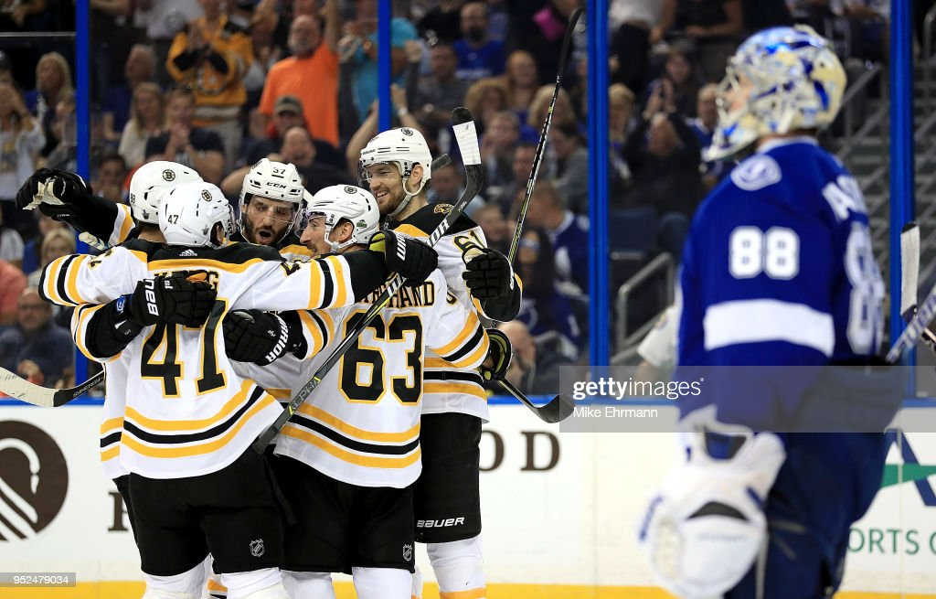 Boston Bruins v Tampa Bay Lightning - Game One