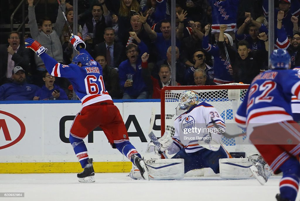 Edmonton Oilers v New York Rangers : News Photo