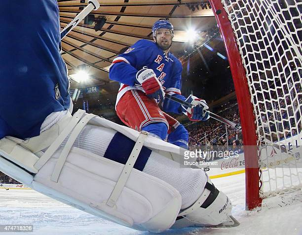 Rick Nash of the New York Rangers skates against the Tampa Bay Lightning in Game Five of the Eastern Conference Finals during the 2015 NHL Stanley...