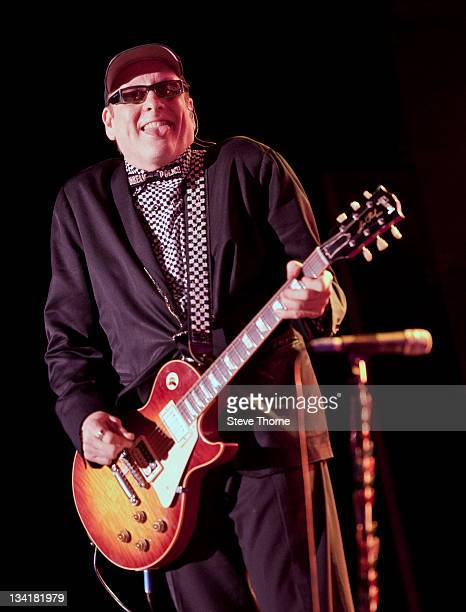 Rick Neilson of Cheap Trick performs on stage at LG Arena on November 27, 2011 in Birmingham, United Kingdom.
