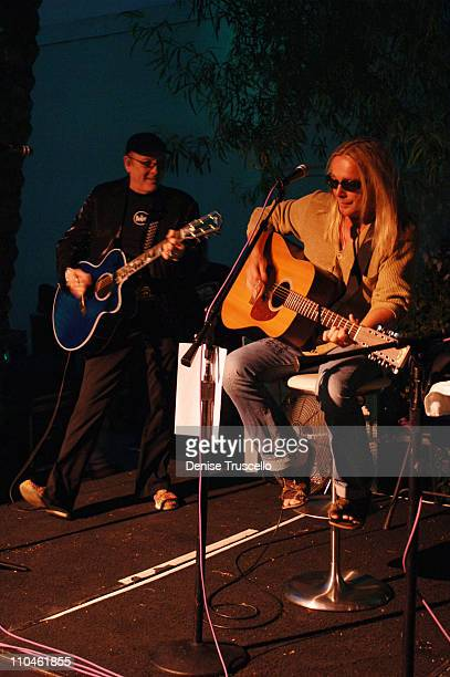 Rick Nielsen and Robin Zander of Cheap Trick during Cheap Trick Unplugged for the First Time at The Hard Rock Hotel and Casino Resort at Simon...