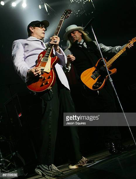 Rick Nielsen and Robin Zander of Cheap Trick perform at Sprint Center on July 21 2009 in Kansas City Missouri