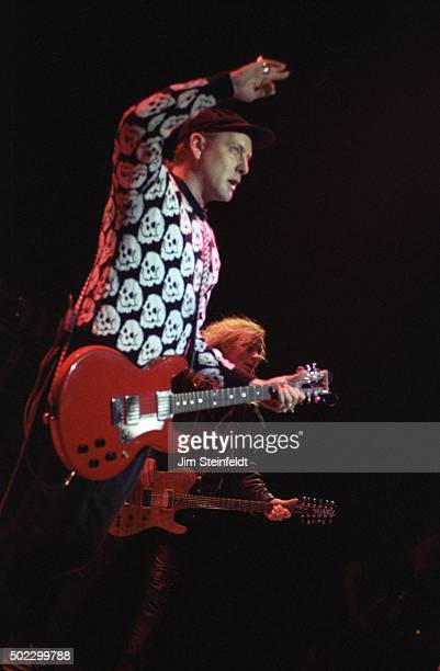 Rick Nielsen and Robin Zander of Cheap Trick performs at the Target Center on November 211990 in Minneapolis Minnesota in 1990