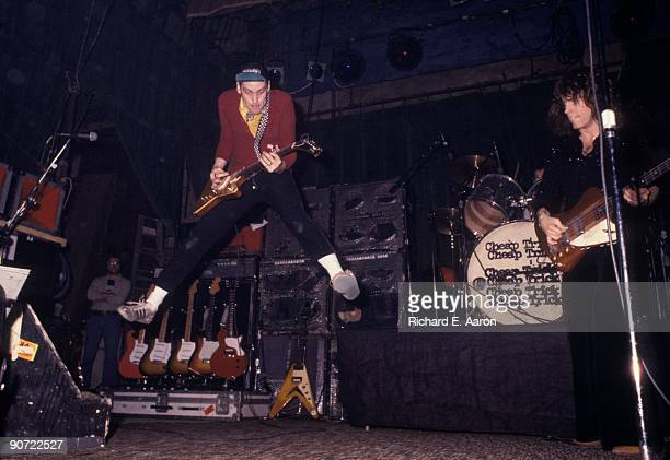 Rick Nielsen and Tom Petersson perform live with Cheap Trick in New York in March 1977