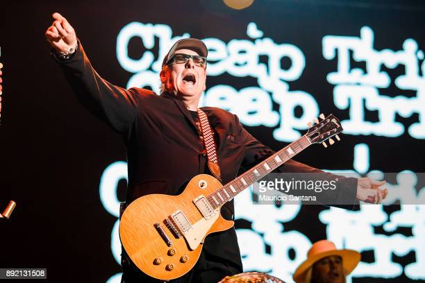 Rick Nielsen member of the band Cheap Trick performs live on stage at Allianz Parque on December 13 2017 in Sao Paulo Brazil