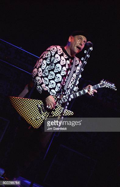 Rick Nielsen of Cheap Trick performs at the Target Center on November 211990 in Minneapolis Minnesota in 1990