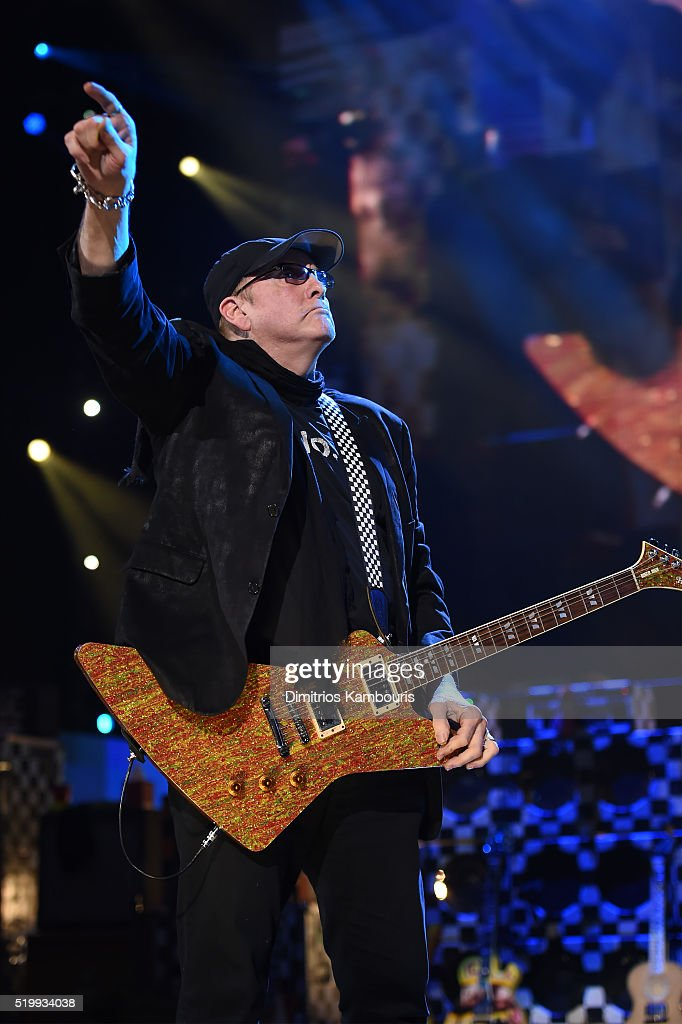 Rick Nielsen of Cheap Trick performs onstage at the 31st Annual Rock And Roll Hall Of Fame Induction Ceremony at Barclays Center of Brooklyn on April 8, 2016 in New York City.