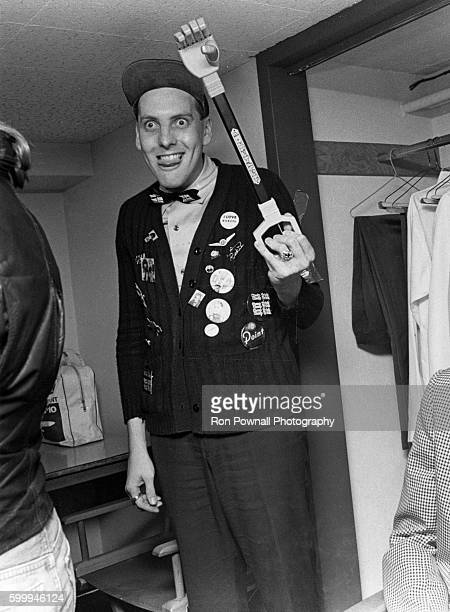 Rick Nielsen of the Rock group Cheap Trick backstage at The Paradise on June 9 1978 in Boston Massachusetts