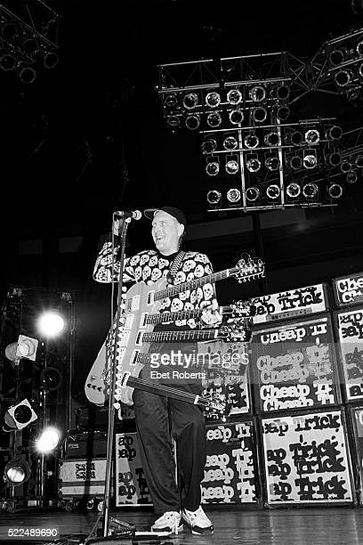 Rick Nielsen performing with Cheap Trick at Madison Square Garden in New York City on July 29 1988