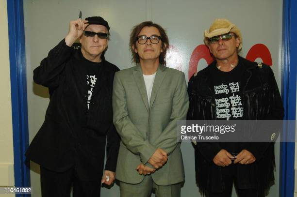 Rick Nielsen Tom Petersson and Robin Zander during Cheap Trick Backstage Meet and Greet at The Joint in The Hard Rock Hotel and Casino at The Joint...