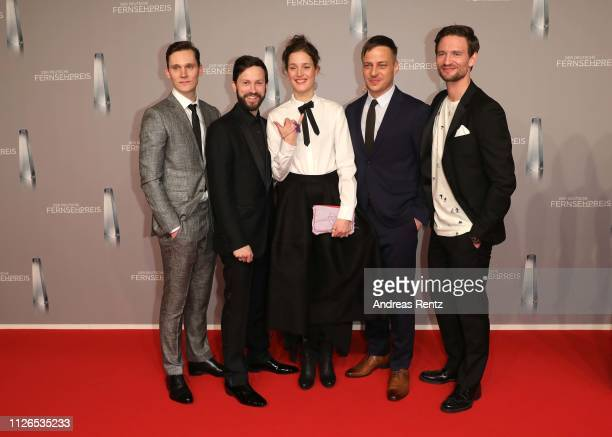 Rick Okon Franz Dinda Vicky Krieps Tom Wlaschiha and August Wittgenstein attend the German Television Award at Rheinterrasse on January 31 2019 in...