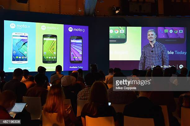 Rick Osterloh President and COO of Motorola Mobility unviels the company's latest smartphone portfolio including the new Moto G Moto X Play and Moto...