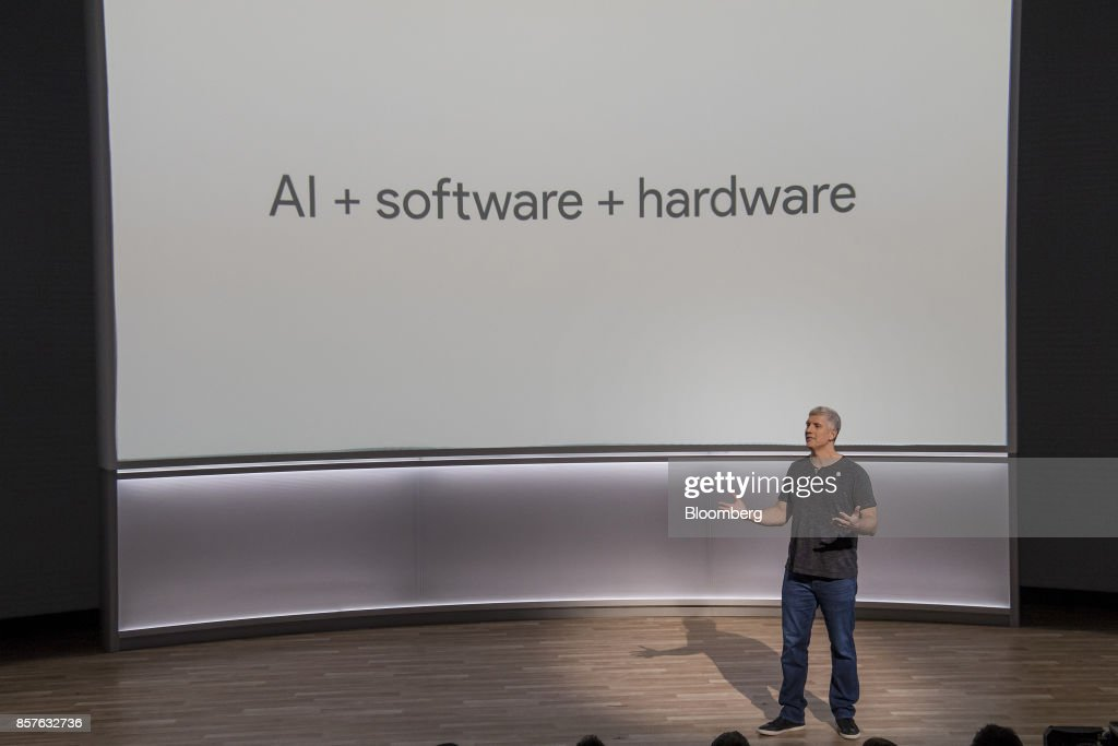 Rick Osterloh, senior vice president of hardware for Google Inc., speaks during a product launch event in San Francisco, California, U.S., on Wednesday, Oct. 4, 2017. Google unveiled the second generation of its own devices along with an array of entirely new gadgets, plowing the company deeper into a competitive consumer hardware market. Photographer: David Paul Morris/Bloomberg via Getty Images
