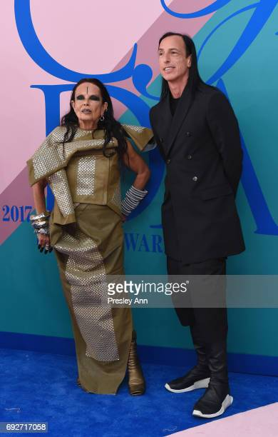 Rick Owens and Michele Lamy attend the 2017 CFDA Fashion Awards at Hammerstein Ballroom on June 5 2017 in New York City