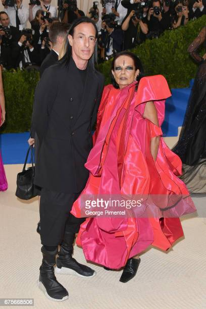 Rick Owens and Michele Lamy attend the 'Rei Kawakubo/Comme des Garcons Art Of The InBetween' Costume Institute Gala at Metropolitan Museum of Art on...