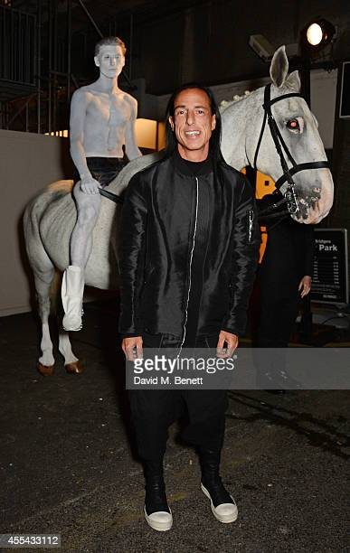 Rick Owens attends the party to celebrate the World of Rick Owens at Selfridges during London Fashion Week at Selfridges on September 13 2014 in...