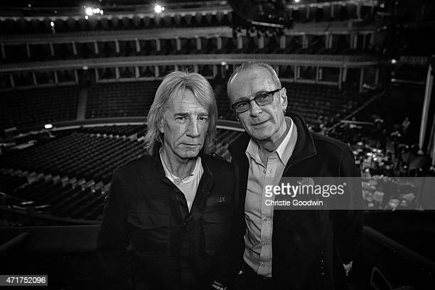 LONDON ENGLAND APRIL 30 Rick Parfitt and Francis Rossi of Status Quo ahead of their concert as part of their acoustic tour 'Aquostic' at Royal Albert...
