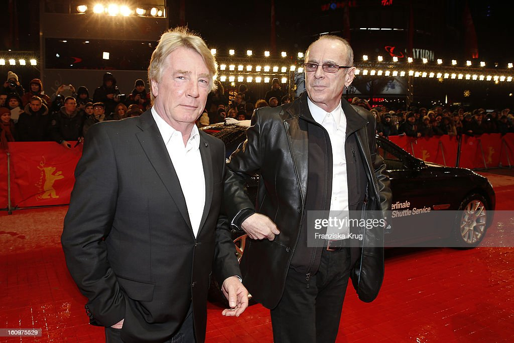Rick Parfitt and Francis Rossi of Status Quo arrives at the 'Promised Land' Premiere - BMW at the 63rd Berlinale International Film Festival at the Berlinale Palast on February 8, 2013 in Berlin, Germany.
