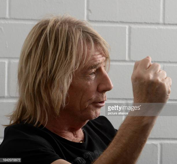 Rick Parfitt from the British band Status Quo during an interview with the Deutsche Presse Agentur in Stuttgart Germany 24 October 2014...