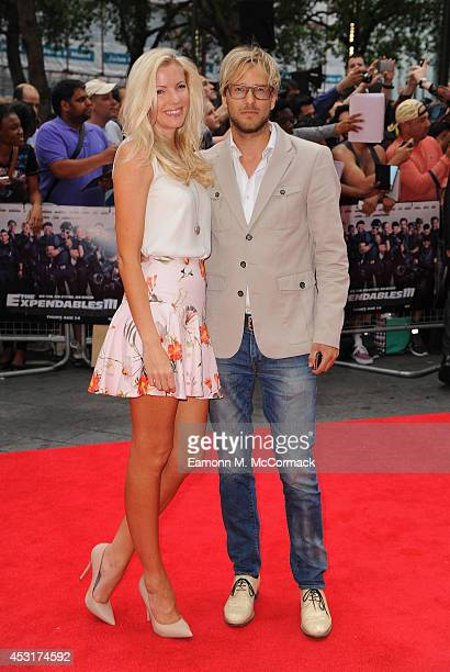 Rick Parfitt Jnr and his wife Rachel Parfitt attend the World Premiere of 'The Expendables 3' at Odeon Leicester Square on August 4 2014 in London...