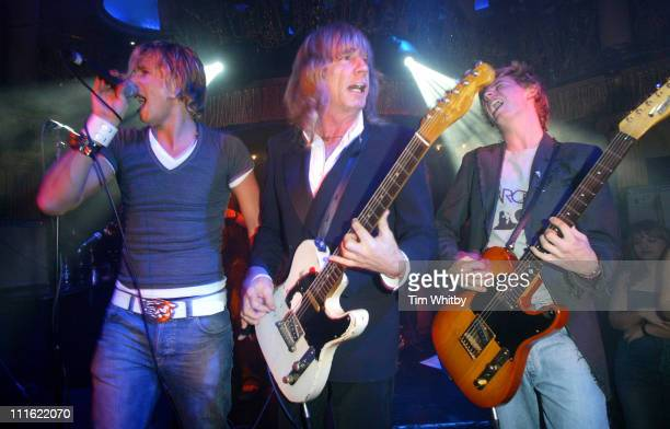 Rick Parfitt Jr and Harry Parfitt with father Rick Parfitt of Status Quo