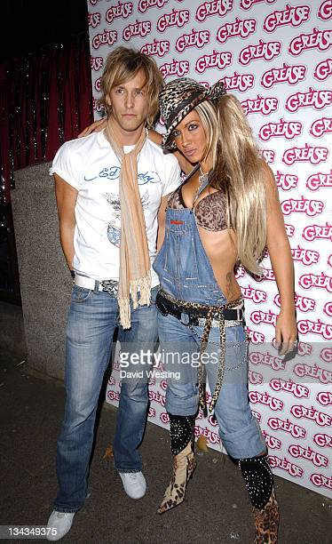 Rick Parfitt Jr and Jodie Marsh during Grease DVD Launch Party at All Star Lanes in London Great Britain