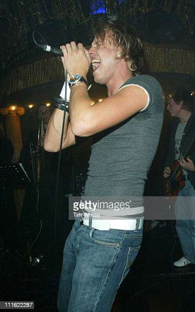 Rick Parfitt Jr during Rick Parfitt and Sons Perform Live for the First Time December 23 2004 at Cafe de Paris in London California Great Britain