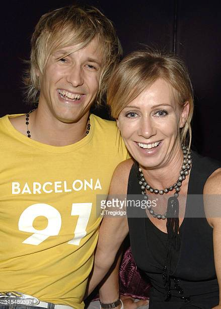 Rick Parfitt Junior and Karen Millen during Inner Place 3rd Birthday Party at Mint at The Mint in London Great Britain