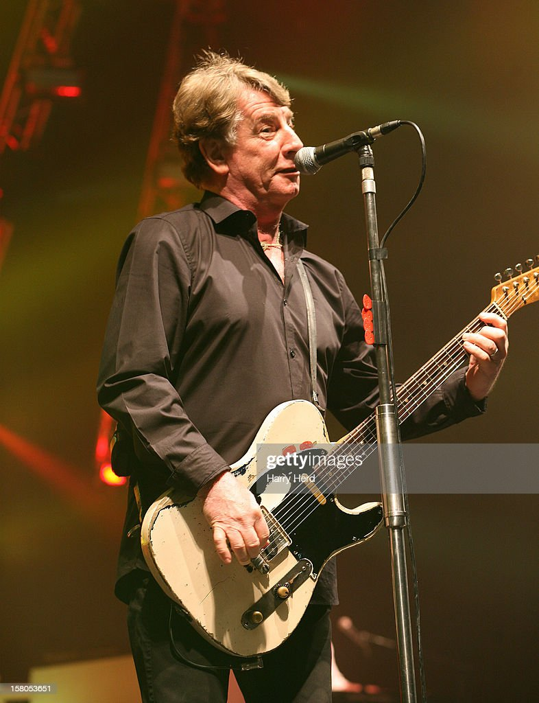Rick Parfitt of Status Quo performs at Quofestive at BIC on December 9, 2012 in Bournemouth, England.