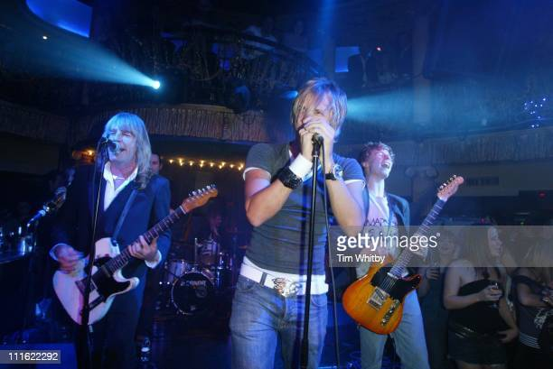 Rick Parfitt of Status Quo with sons Rick Parfitt Jr and Harry Parfitt