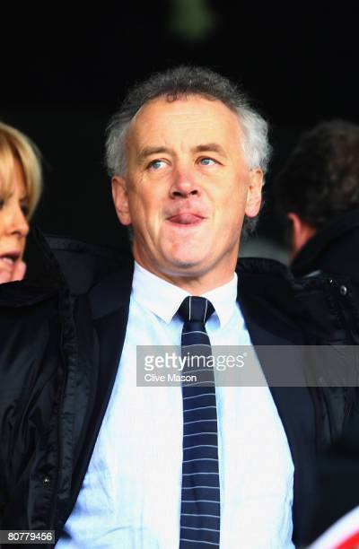 Rick Parry the Chief Executive of Liverpool Football Club is seen in the stand before the Barclays Premier League match between Fulham and Liverpool...