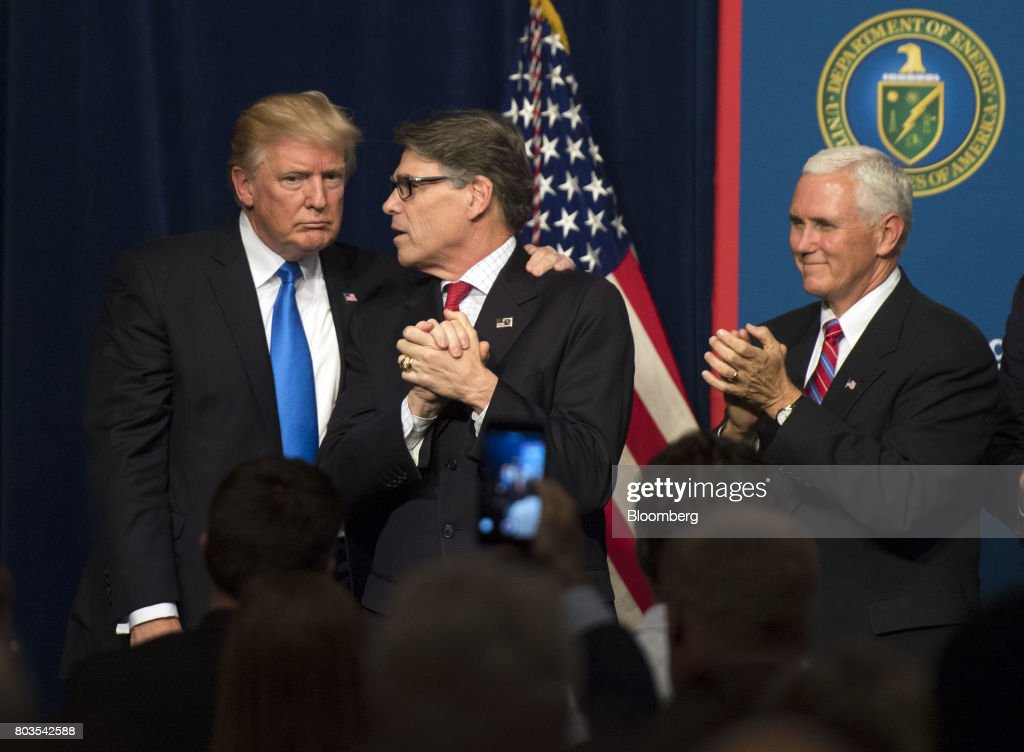 President Trump Speaks At Unleashing American Energy Event At Department Of Energy : News Photo