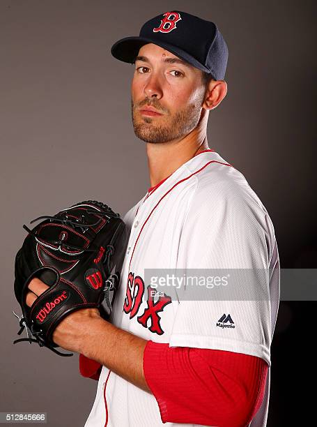 Rick Porcello of the Boston Red Sox poses for a portrait on February 28 2016 at JetBlue Park in Fort Myers Florida