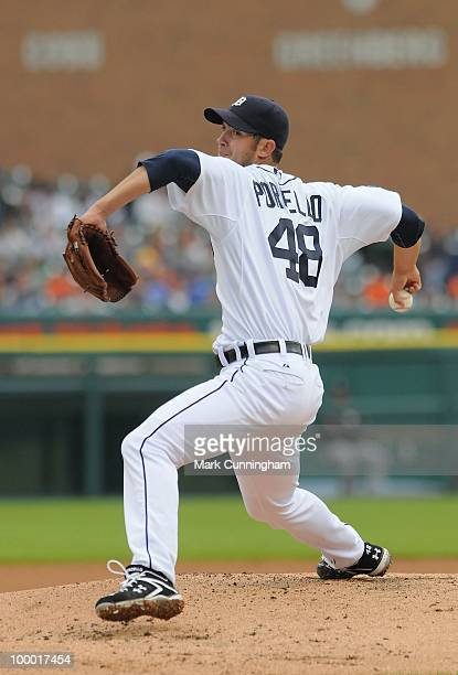 Rick Porcello of the Detroit Tigers pitches against the Chicago White Sox during the game at Comerica Park on May 18 2010 in Detroit Michigan The...