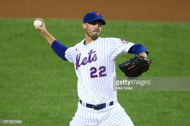 Rick Porcello of the New York Mets pitches in the first inning against the Baltimore Orioles at Citi Field on September 09, 2020 in New York City.