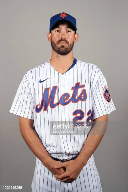 Rick Porcello of the New York Mets poses during Photo Day on Thursday, February 20, 2020 at Clover Park in Port St. Lucie, Florida.
