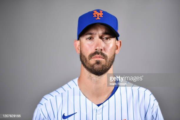 Rick Porcello of the New York Mets poses for a photo during Photo Day at Clover Park on February 20, 2020 in Port St. Lucie, Florida.