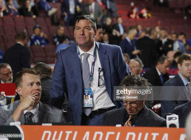 Rick Pracey of the Philadelphia Flyers attends the 2019 NHL Draft at the Rogers Arena on June 22 2019 in Vancouver Canada