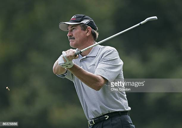 Rick Rhoden during the first round of the Greater Hickory Classic at Rock Barn held at Rock Barn Golf Spa in Conover North Carolina on September 29...