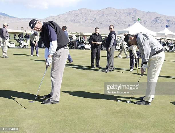 Rick Rhoden Rollie Fingers during Las Vegas Celebrity Golf Classic Pro AM at Silverstone Golf Course in Las Vegas Nevada United States