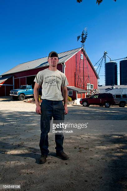 Rick Roden stands for a portrait at the farm RobNCin on September 29 2010 in West Bend Wisconsin The farm has roughly 400 head of cattle and about...
