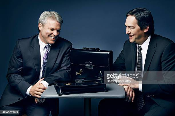 Rick Rosas and Brian Cullinan are photographed for The Hollywood Reporter on February 11 2014 in Los Angeles California