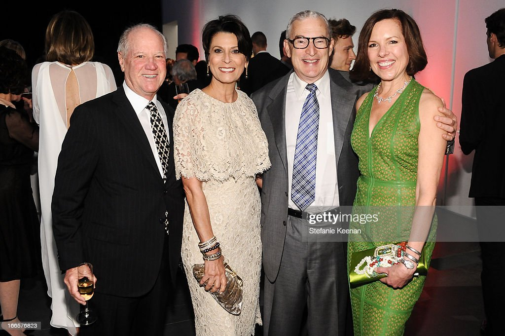 Rick Rosenfield, Esther Rosenfield, Joe Wender and Ann Colgin attend LACMA's 2013 Collectors Committee - Gala Dinner at LACMA on April 13, 2013 in Los Angeles, California.