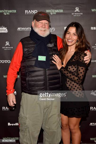 Rick Rosenthal and Sarah Shahi attend the Whitewater Films Reception At The RAND Luxury Escape 2018 Park City at The St Regis Deer Valley during the...
