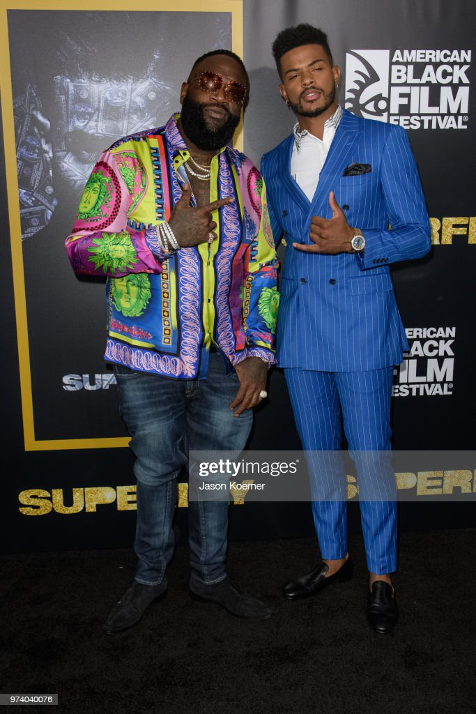Rick Ross and Trevor Jackson attend Opening Night Screening 'Superfly' at the FIllmore Miami Beach during the 22nd Annual American Black Film Festival on June 13, 2018 in Miami Beach, Florida.